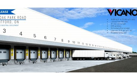 530,000 sq. ft. multi-unit Warehousing Facility – 185 Oak Park Road, Brantford, ON